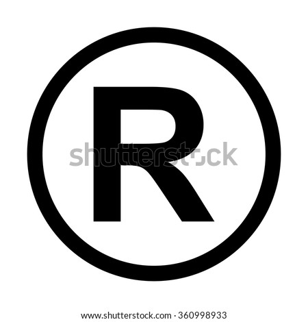 Registered Trademark icon. Isolated on white background - stock vector