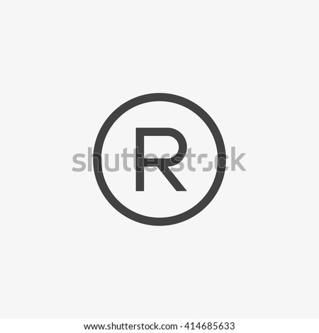 Registered Trademark symbol isolated on grey background. Vector illustration, EPS10. - stock vector