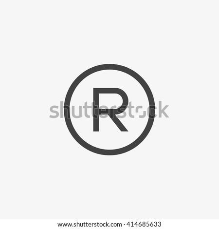 Registered Trademark symbol, Registered Trademark icon, Registered Trademark sign, Registered Trademark vector, Registered Trademark EPS, Registered Trademark App, Registered Trademark UI  - stock vector