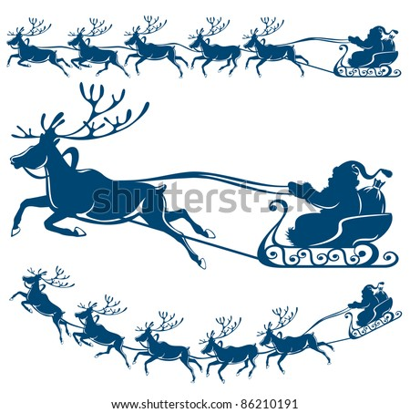 Santa Claus Sleigh Stock Photos, Images, & Pictures ...