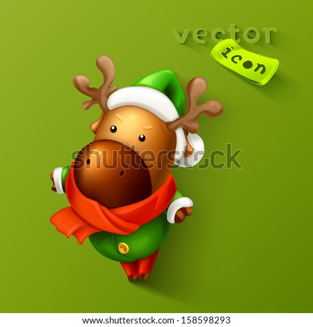 Reindeer icon - stock vector