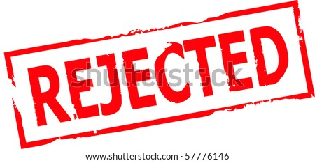 rejected grunge stamp vector illustration - stock vector