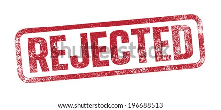 Rejected red ink stamp - stock vector