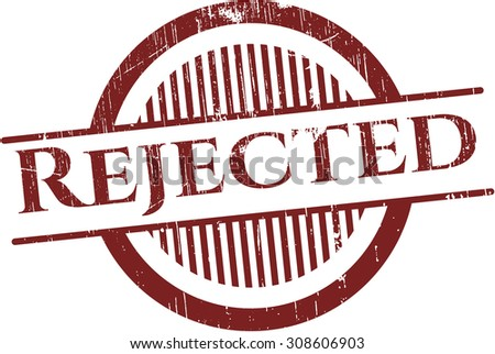 Rejected rubber stamp - stock vector
