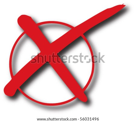 Rejected sign red - stock vector
