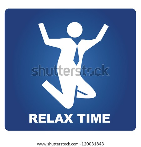 relax time, businessman is jumping - stock vector