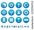 Religion icons - stock vector