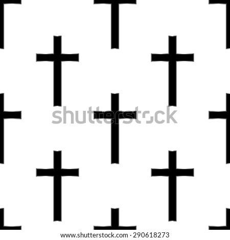 Religious cross seamless pattern. Vector illustration. Eps 10 - stock vector