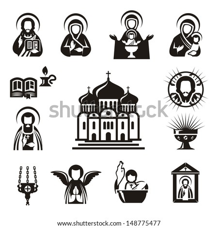 Religious icons - stock vector