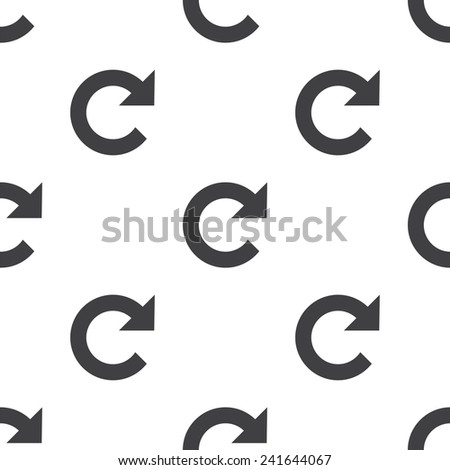 reload, vector seamless pattern, Editable can be used for web page backgrounds, pattern fills   - stock vector