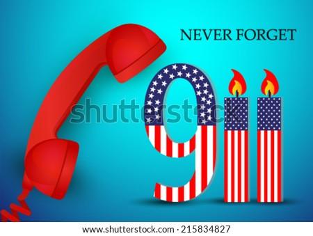 Remember 911 - World Trade Center - stock vector