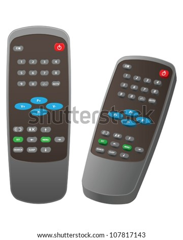 Remote control for Television - stock vector
