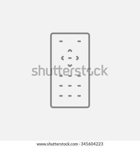 Remote control line icon for web, mobile and infographics. Vector dark grey icon isolated on light grey background. - stock vector