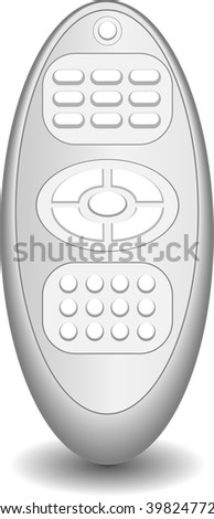 remote control on a gray background - stock vector