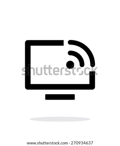 Remote control simple icon on white background. Vector illustration. - stock vector