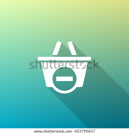Remove from Shopping Basket Icon. Remove from Shopping Basket UI Icon. Remove from Shopping Basket Icon Art. Remove from Shopping Basket Web Icon. Remove from Shopping Basket Icon Pic. - stock vector