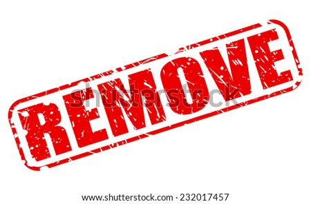 Remove red stamp text on white - stock vector