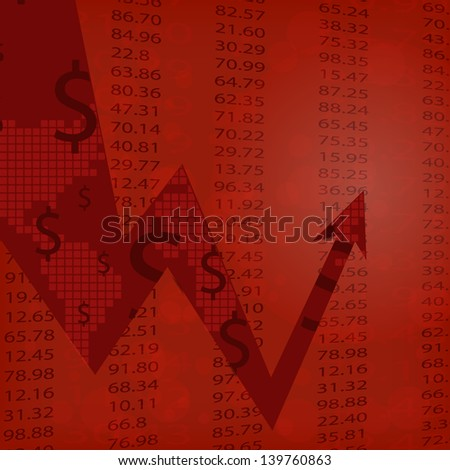 Render Stock Market Graph - stock vector