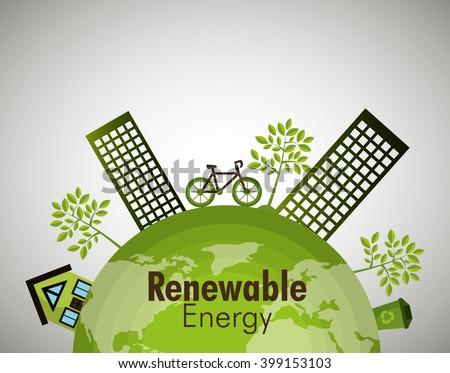 renewable energy  design  - stock vector