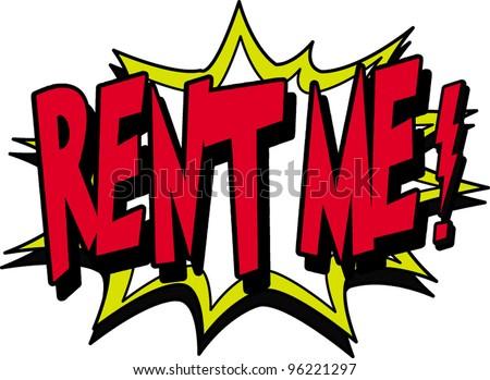 rent me - stock vector