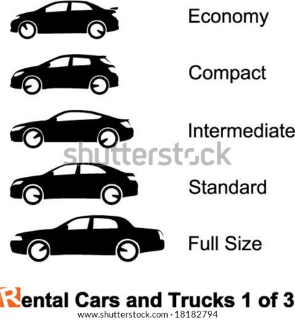 Rental Cars and Trucks 1 of 3 - stock vector