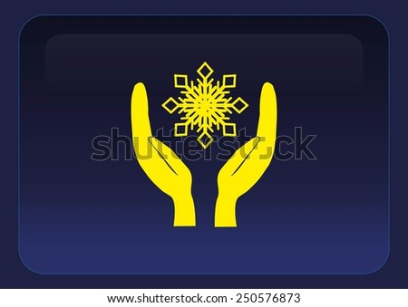 repair of air conditioning climate control icon - stock vector