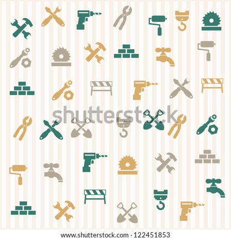 Repairing seamless pattern - stock vector