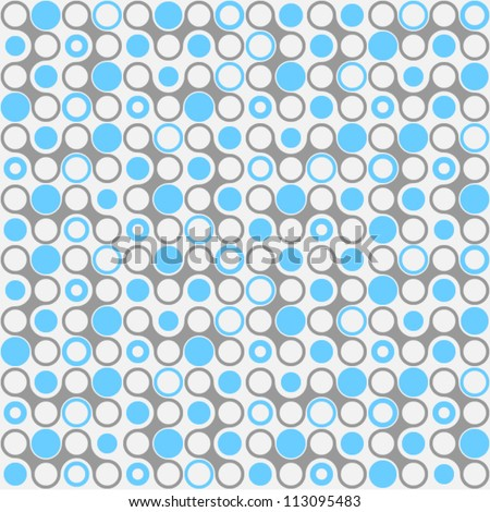 repeatable circles pattern (continuous) - stock vector