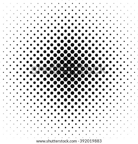 Repeating black and white vector circle pattern background - stock vector