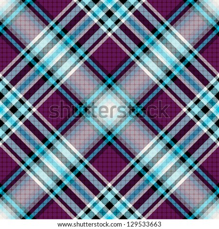 Repeating blue-violet checkered diagonal pattern with translucent squares (vector EPS 10) - stock vector