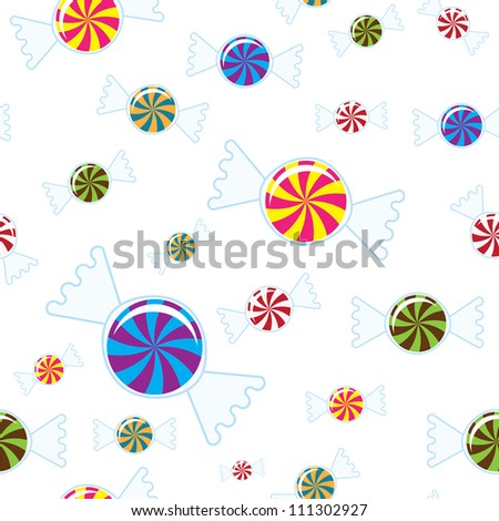 Repeating Candy Background - stock vector