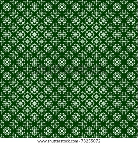 Repeating green pattern. Perfect for Irish or St. Patrick backgrounds - stock vector