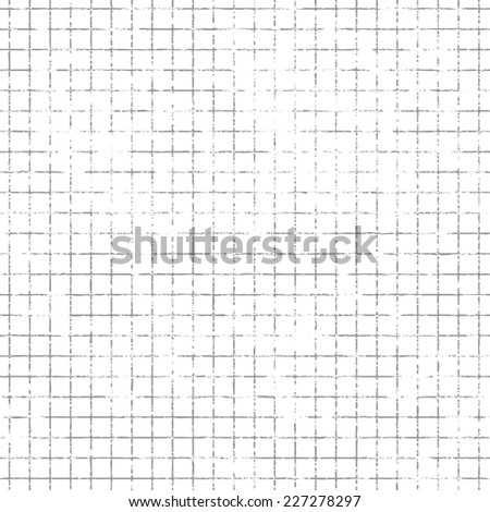 Repeating grunge squared mesh background. Tileable vector wallpaper that repeats left, right, up and down  - stock vector