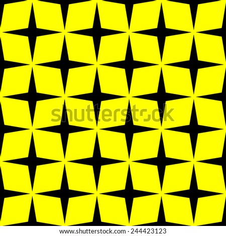 repeating seamless star style pattern - vector - stock vector