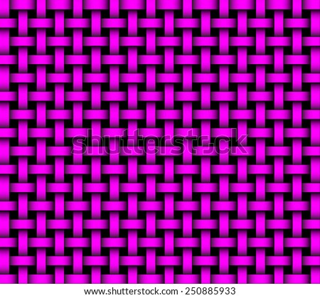 repeating wicker style background pink on black - vector format - stock vector