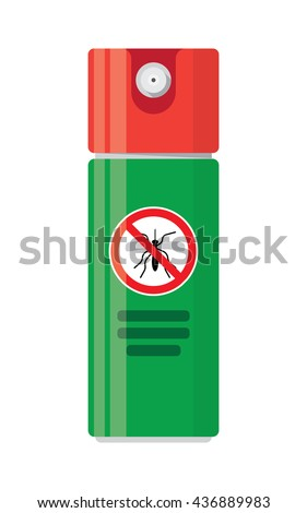 Repellent spray insect. - stock vector