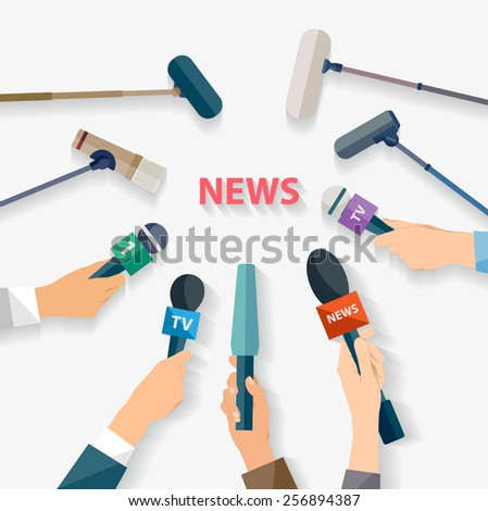 Report concept. Flat design. - stock vector