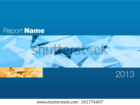 report cover annual - stock vector