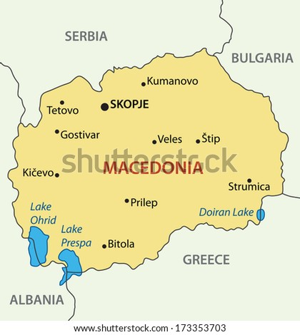 Republic of Macedonia - vector map - stock vector