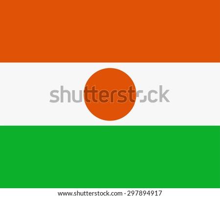 Republic of niger flag vector illustration. Rectangular national flag of  niger. Nigerian flag high detailed - stock vector