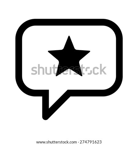 Reputation management or customer review line art icon for apps and websites - stock vector