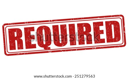 Required grunge rubber stamp on white background, vector illustration - stock vector