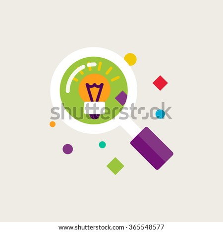 Research, idea, creative vector illustration - stock vector