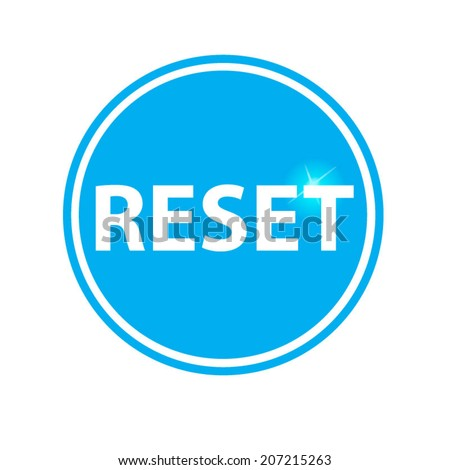 reset circular icon blue on white background - stock vector