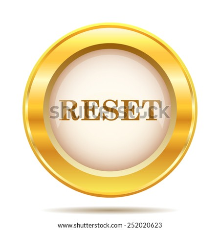 Reset icon. Internet button on white background. EPS10 vector.  - stock vector