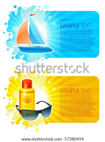 Resort & travel vector frames - stock vector