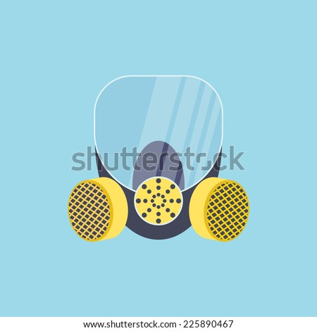 respirator with yellow filters vector illustration - stock vector