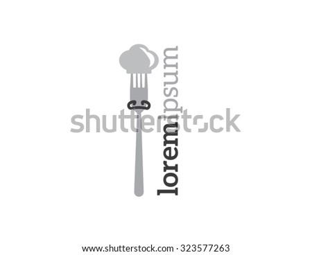 Restaurant and menu symbol, logo  - stock vector