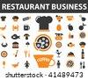 restaurant business. vector - stock vector