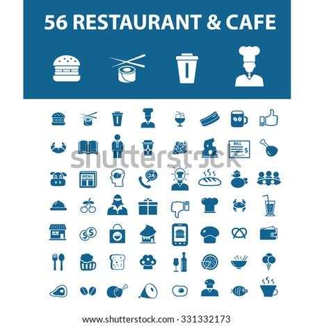 restaurant, cafe icons - stock vector